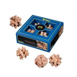 Set 4 dřevěných hlavolamů Philos