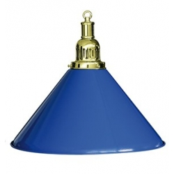 Lampa samostatná modrá - mosaz 40cm