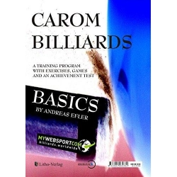 Kniha karambol Carom Billiards by Andreas Efler English