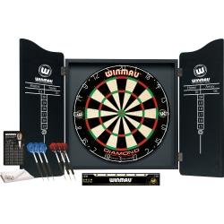 Set kabinet + sisálový terč  + šipky Winmau Pro-dart set Diamond
