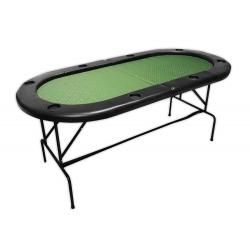 Pokerový stůl Buffalo ovál 180 x 90 cm skládací černý