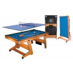 Kulečníkový stůl BCE sklopný 6ft + stolní tenis  + šipky 3 v 1