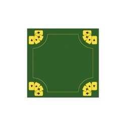 Plátno karetní zelené Buffalo 70 x 70 cm