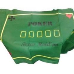Plátno Poker Texas Hold´em 180 x 90 cm zelené s nápisy