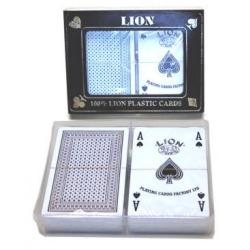 Lion 100 % Plastic Cards Double