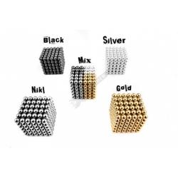 Magnetické kuličky Neocube Ø 7mm Puzzle NIKL