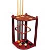 Rohový dřevěný stojan na 10 tág - Javor