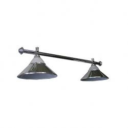 Lampa CLUB 2 kov / sklo silver