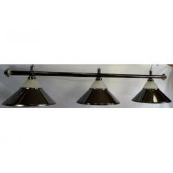 Lampa CLUB 3 kov / sklo černá