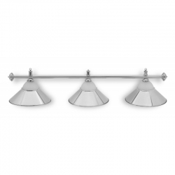 Lampa CLUB 3 kov / sklo silver