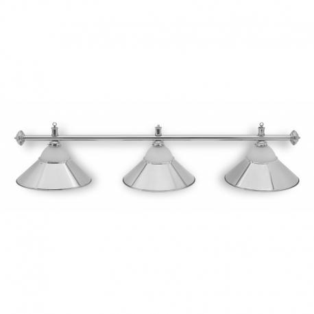Lampa CLUB 3 kov + sklo silver