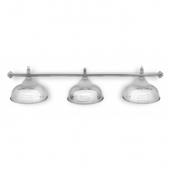 Lampa CROWN 3 kov / sklo silver