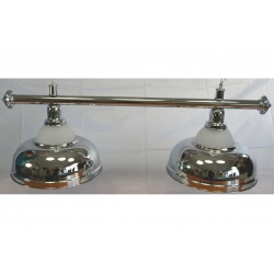 Lampa CROWN 2 kov / sklo silver