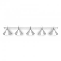 Tyč k 5-lampě stříbrná
