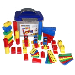 Magnetická stavebnice 57 ks De luxe plast box