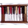 Počítadlo karambolové dřevěné 9 řad