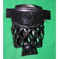 Kožené koše Black set 6 ks