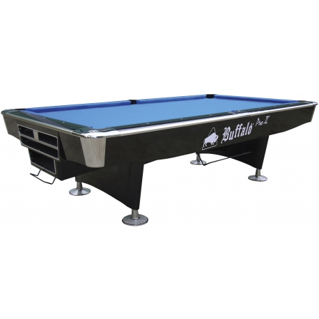 Kulečníkový stůl POOL BUFFALO PRO II BALL RETURN 9FT černý