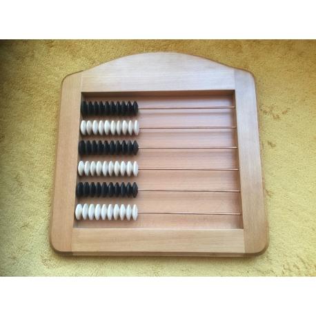 Dřevěné počítadlo De LUXE masiv