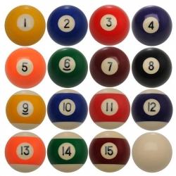 Samostatná pool koule 57,2mm, čísla 1-15