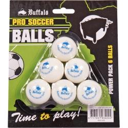 Míčky na stolní fotbal profi Buffalo  6 kusů bílé