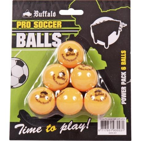 Míčky na stolní fotbal profi Buffalo 6 kusů žluté