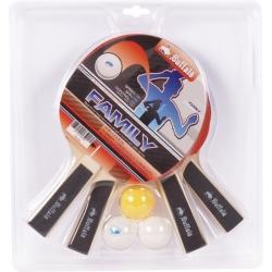 Pálky stolní tenis Buffalo Family  - set 4ks + 3 míčky