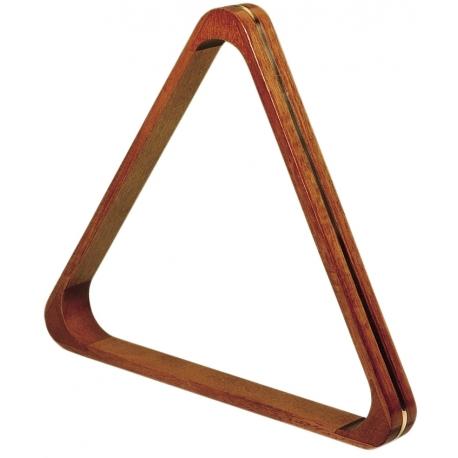 Trojúhelník dřevěný s mosazí, 52,4 mm