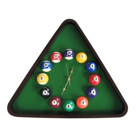 Hodiny Billiard Clock Triangl