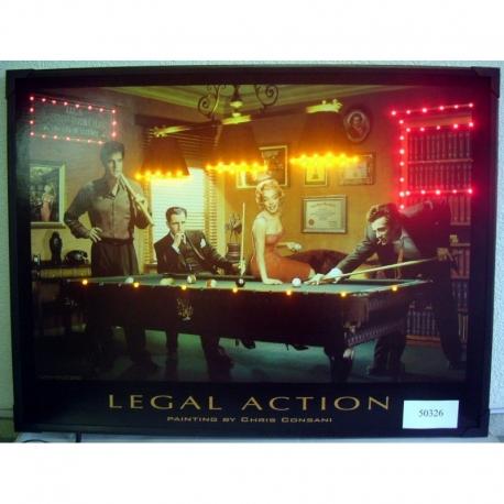 Obraz s diodami Legal Action