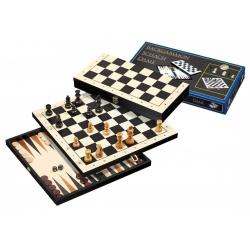 Šachy+dáma+Backgammon set Philos