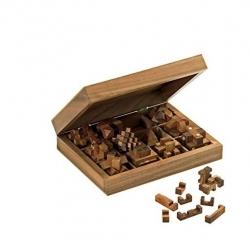 Sada 12 dřevěných hlavolamů Philos