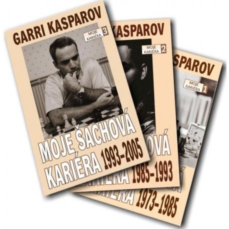 """Třídílná autobiografie Garri Kasparova """"Moje šachová kariéra"""""""